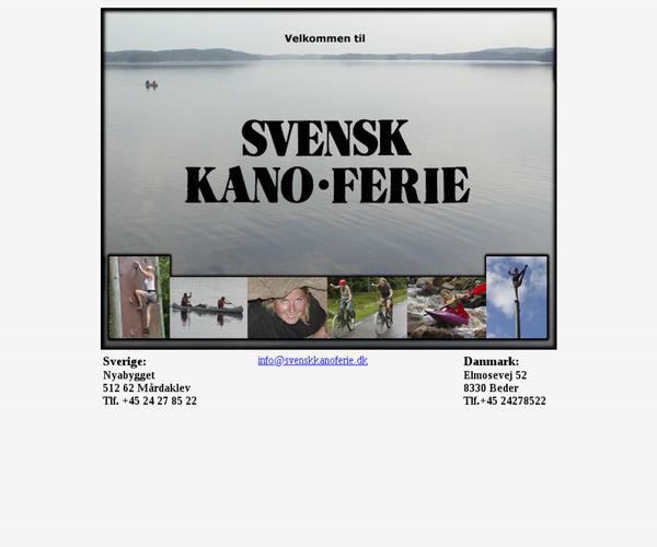 Svensk Kano Ferie
